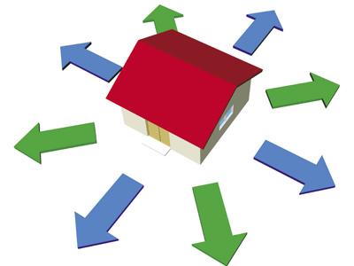 Xem hướng nhà và Hướng cửa để nhận đợc khí tốt vào nhà