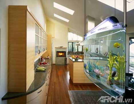 Bí quyết trang trí bể cá thủy sinh trong nhà - Archi