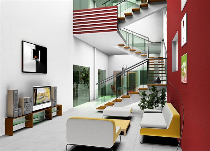 Cầu thang nhà nên sử dụng cầu thang vuông hay tròn?