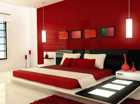Hạn chế màu nóng trong phòng ngủ theo phong thủy