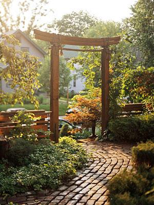 Cổng nhà vườn hợp phong thủy