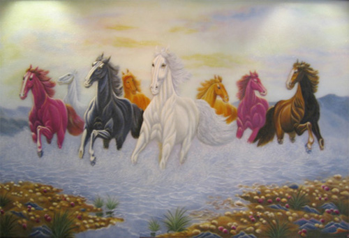 Tranh phong thủy : Tác dụng phong thủy trong tranh Ngựa